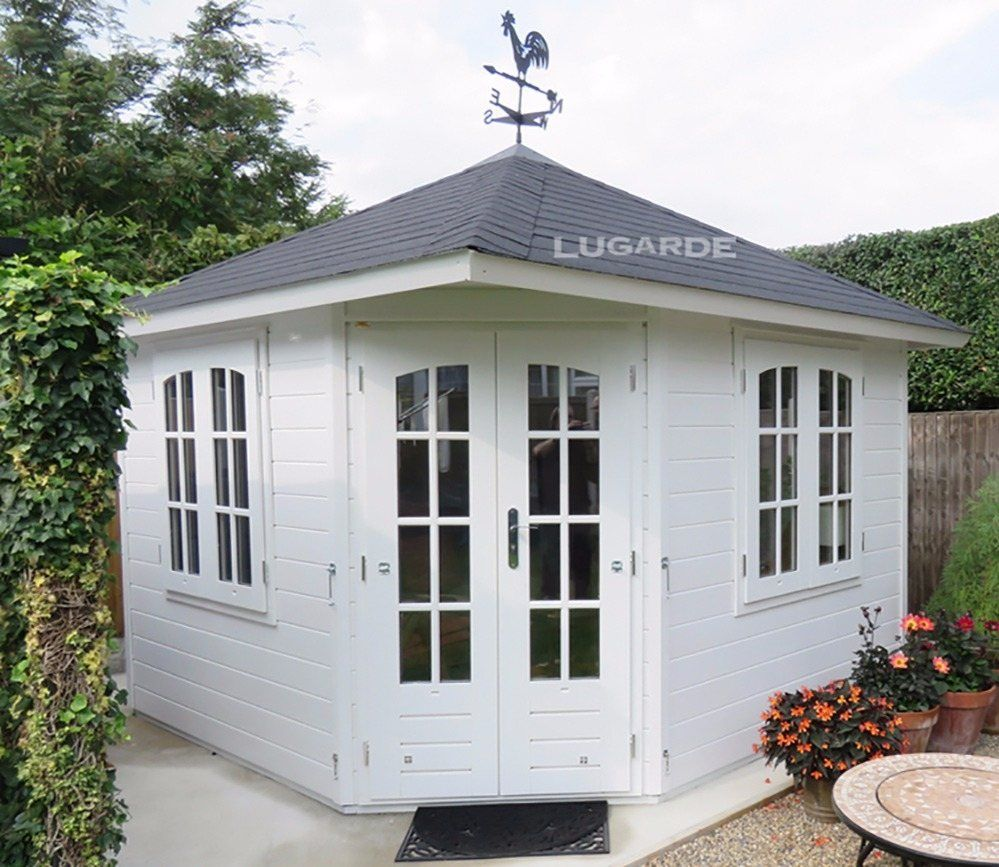 Lugarde Fifth Avenue P53 10 X 10 Ft Summerhouse With Images Garden Huts Summer House Shed