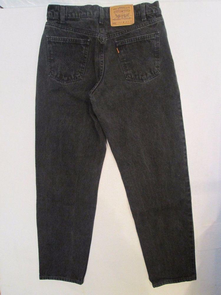 #474 Men's Levi's 550 *Black* Relaxed Fit Straight Leg Jeans Men's Size 34 X 32 #Levis #ClassicStraightLeg
