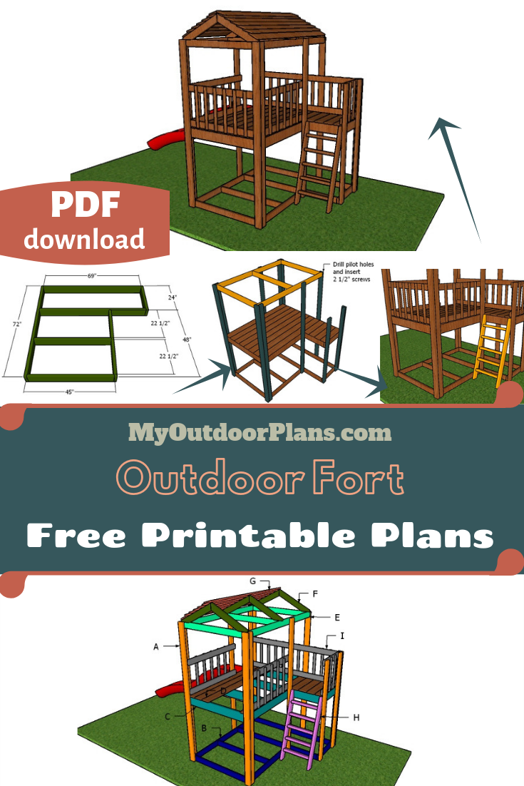 Outdoor Fort Plans Kids Forts Outdoor Forts Fort Plans