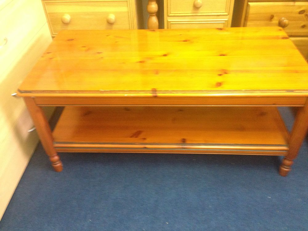 Ducal Chateau | Pine Coffee Table With A Shelf | Solid Wood Pine ...