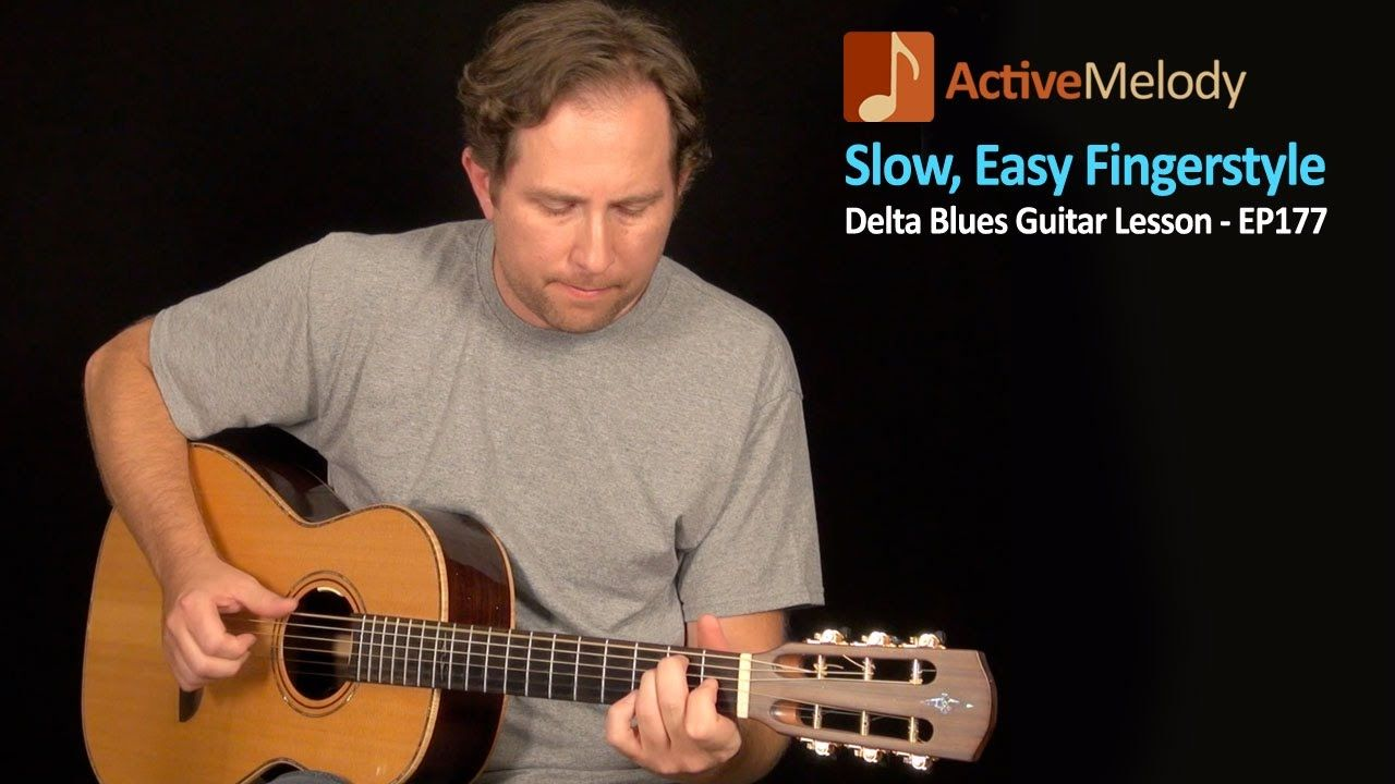 Slow and Easy Delta Blues Guitar Lesson (Fingerstyle