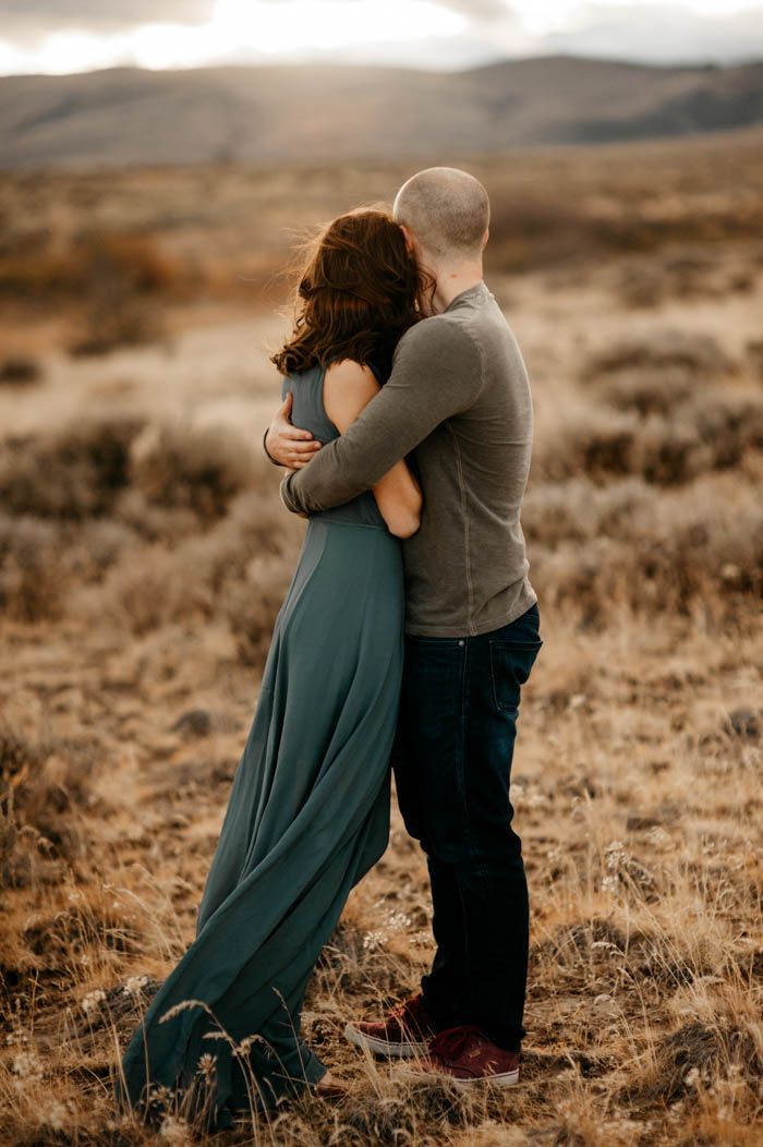 Intimate desert engagement photos | Image by Tonie Christine Photography