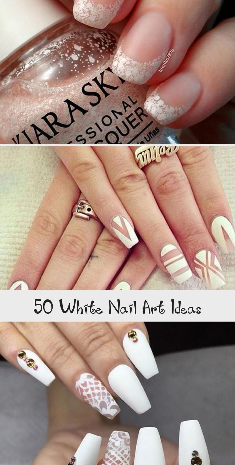 Photo of 50 White Nail Art Ideas – Beauty