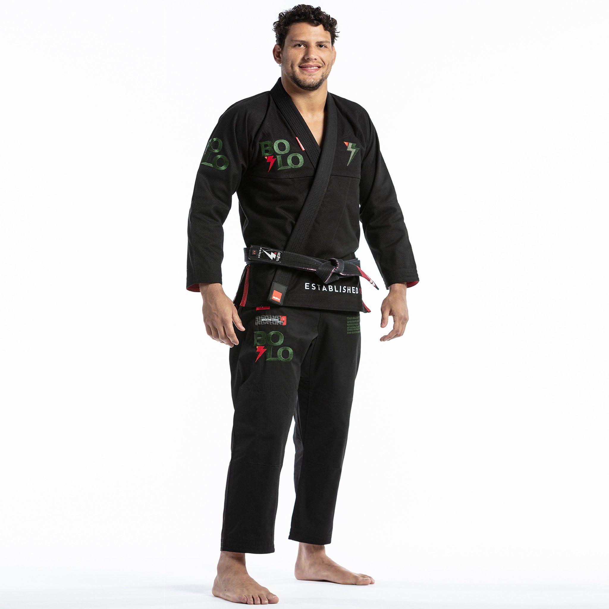 Black Jiu Jitsu Gi for Mens with Yellow Contrast Style 100/% Cotton Pearl Weave