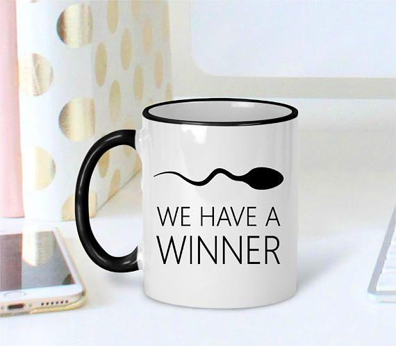 We Have a Winner! High Quality Ceramic Coffee Mug Pregnancy Announcement