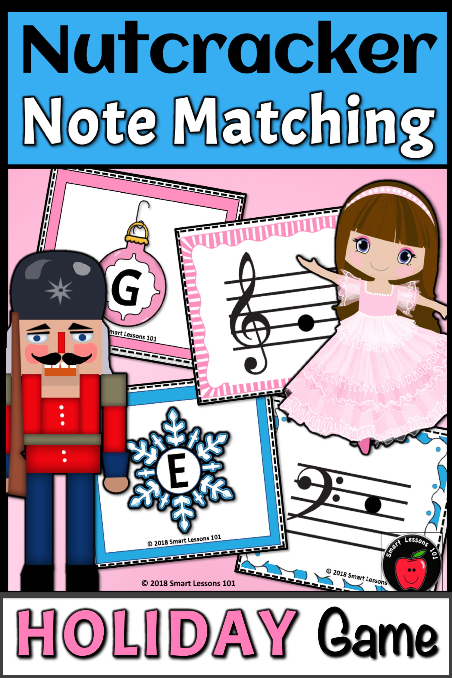 Nutcracker Activity Treble Amp Bass Clef Christmas Note