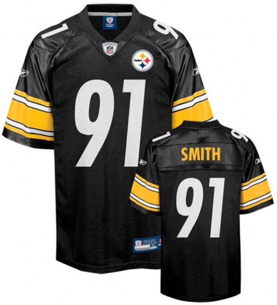 c1c6dab6a50 Pittsburgh Steelers Aaron Smith #91 Reebok Replica Screened 4XL Jersey # Reebok #PittsburghSteelers