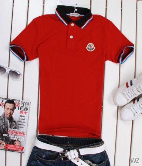 FR Polo Moncler - polo de Mode Moncler homme Rouge   FR Polo Moncler ... f083ce7ff17