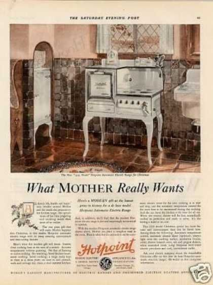 Hotpoint Electric Range Color (1929) Vintage appliances