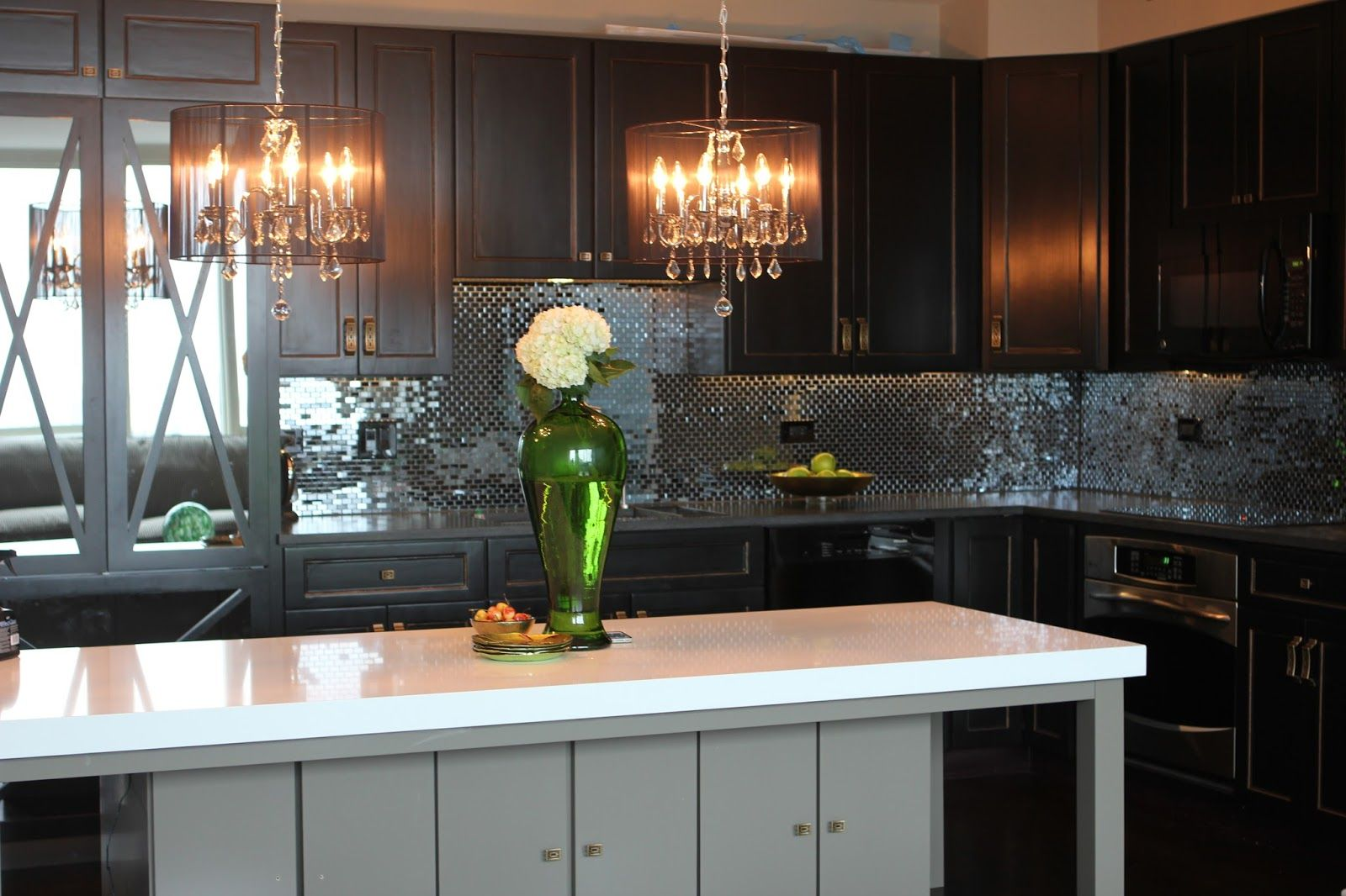 Kitchen Archaic L Shape Kitchen Decoration Using Black