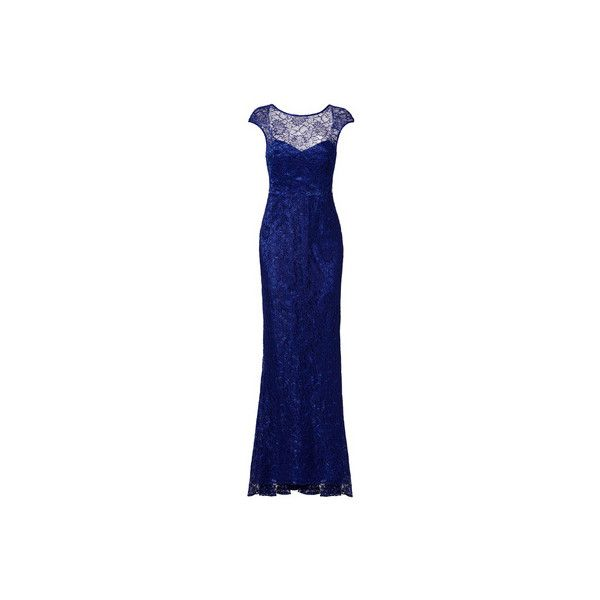 Nicole Miller Blue Vive Gown ($75) ❤ liked on Polyvore featuring ...