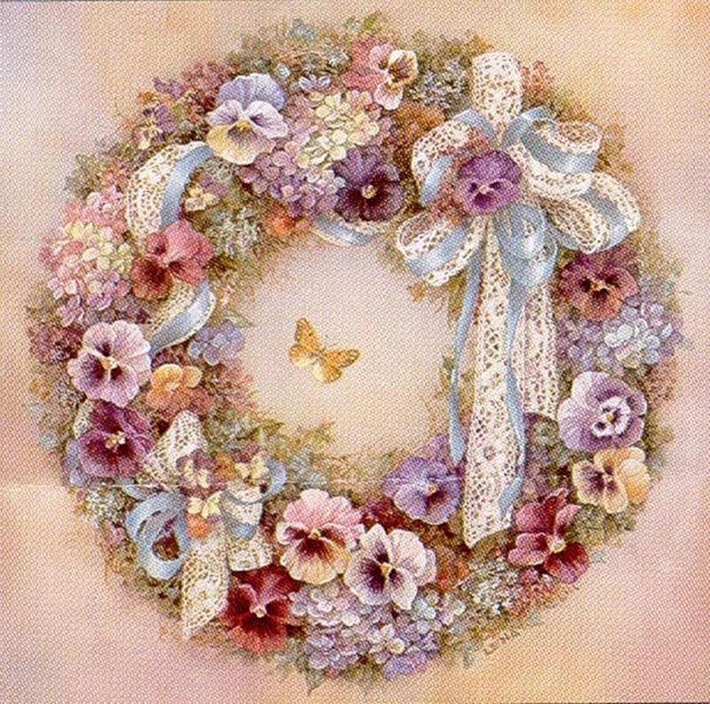 декупаж картинки цветы венки него