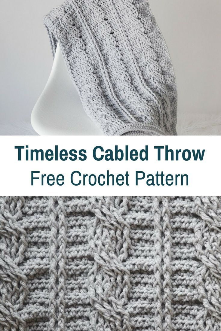 Super Snuggly And Warm Timeless Cabled Throw Crochet Pattern ...