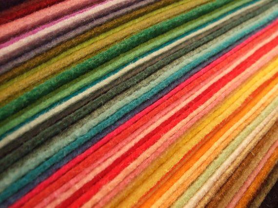 Many Colors Of Wool Felt Wool Felt Projects Felt Sheets Wool Felt
