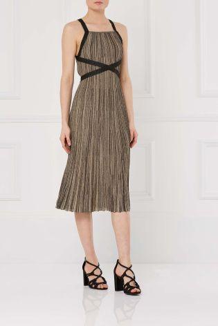41da7a2a77 Bronze Pleated Dress