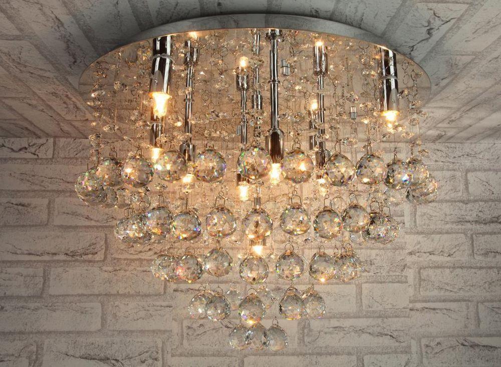 Lampadario moderno plafoniera lampada soffitto acciaio cromo - deckenleuchte für küche