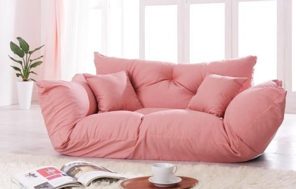 Bedroom Decor | Floor couch, Girls bedroom furniture and Pink couch