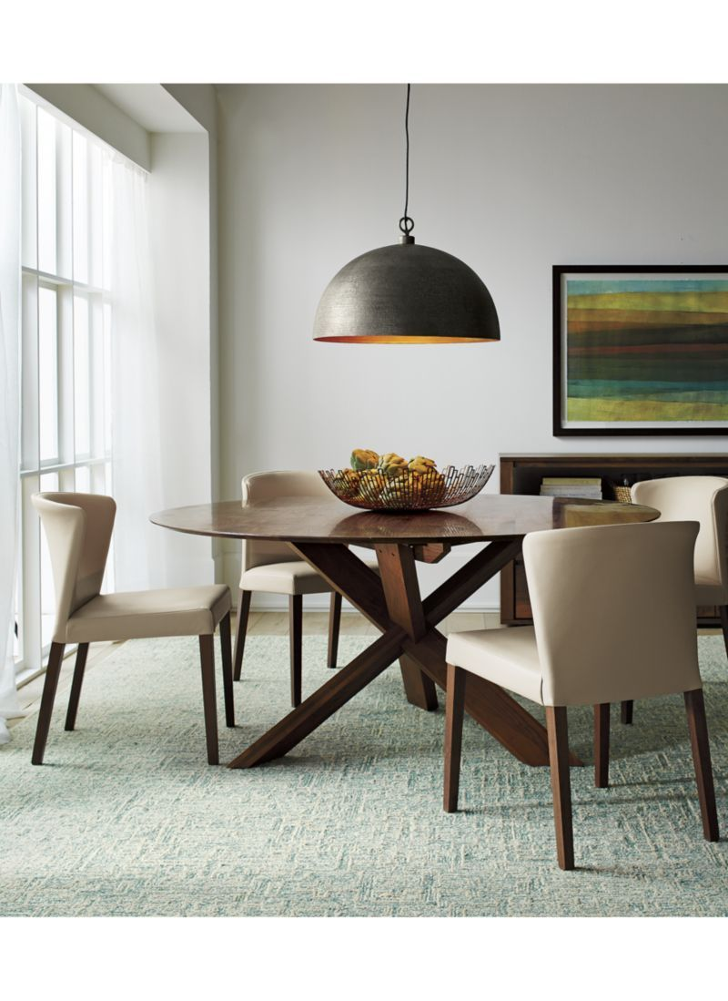 Apex 64 Round Dining Table Reviews Crate And Barrel Round Dining Table Lights Over Dining Table Dining Table