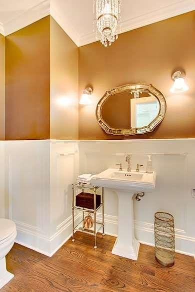 Copper Bathroom Paint Colorfun Powder Room Idea Design Ideas - Gold bathroom paint
