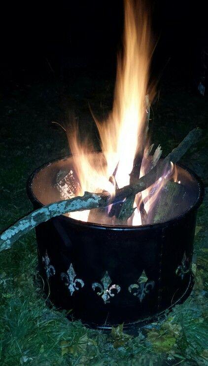 Fleur De Lis Fire Ring