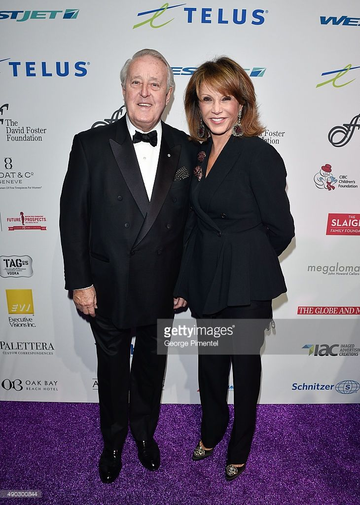 Former Canadian Prime Minister Brian Mulroney And Wife Mila Mulroney Mila Mulroney Brian Mulroney Wife