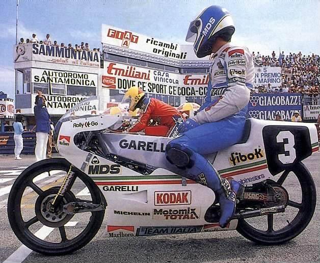 Fausto Gresini Team Italia Garelli 125 Champion Misano 1985 Sport Pilot Marina