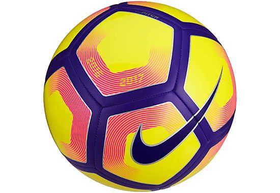 Nike Pitch Soccer Ball Yellow Purple Soccermaster Com Soccer Ball Premier League Soccer Soccer