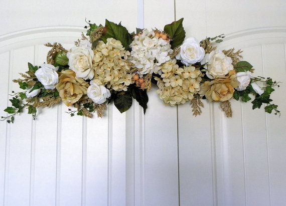 Decorative floral swag for home dcor or wedding swag designed with decorative floral swag for home dcor or wedding swag designed with beige cream and mightylinksfo Choice Image
