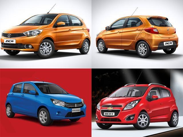 Tata Zica Vs Maruti Celerio Vs Chevrolet Beat Comparo Tata