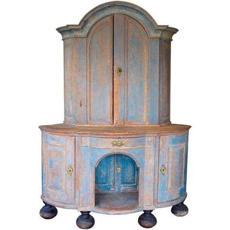Swedish Painted Wood Corner Cupboard, Late 18th Century | Corner Cupboard,  Furniture Storage And Cupboard