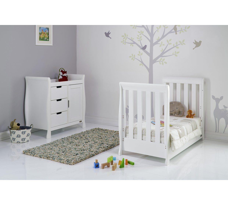 Obaby Stamford Mini Sleigh 2 Piece Room Set White