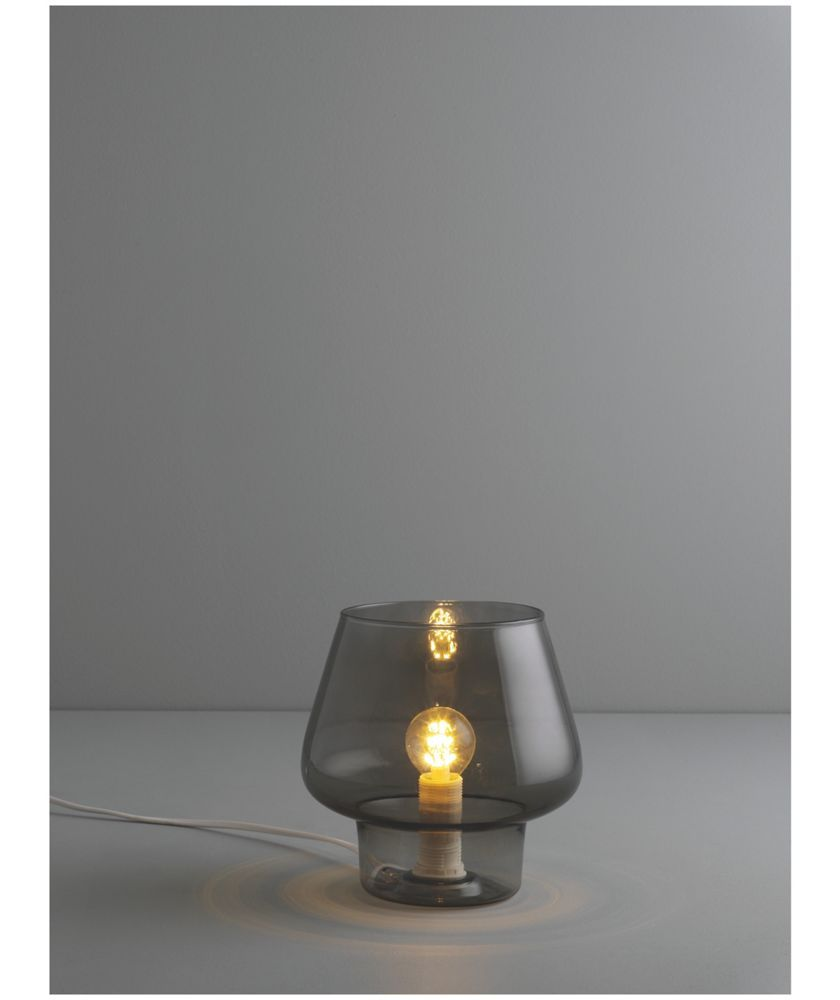 Buy habitat lyss glass table lamp smoked at argos your buy habitat lyss glass table lamp smoked at argos your geotapseo Image collections