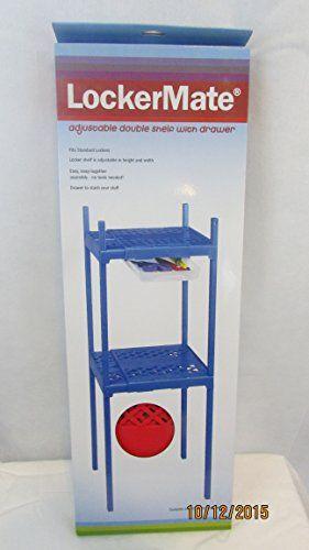 It's Academic Adjustable Double Locker Shelf RED LockerMate | Locker shelves. School items. Lockers