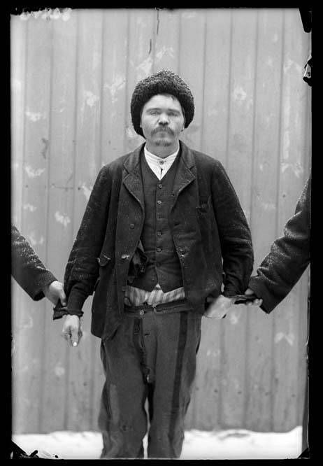 Vanki lääninvankilasta 1908.