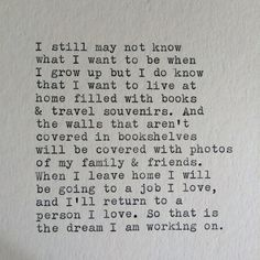 that is the dream I'm working on. // Oh this is so entirely perfect.