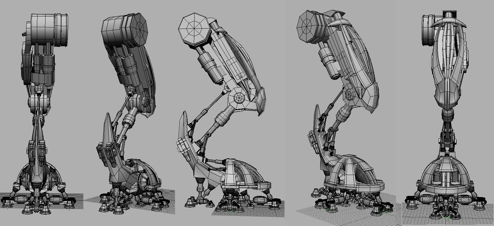 MASTA-KILLA TERRITORIES: MECHA LEG MECHANISM AND CONCEPTS