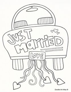 Just Married Coloring Page | Wedding misc | Pinterest | Color sheets ...