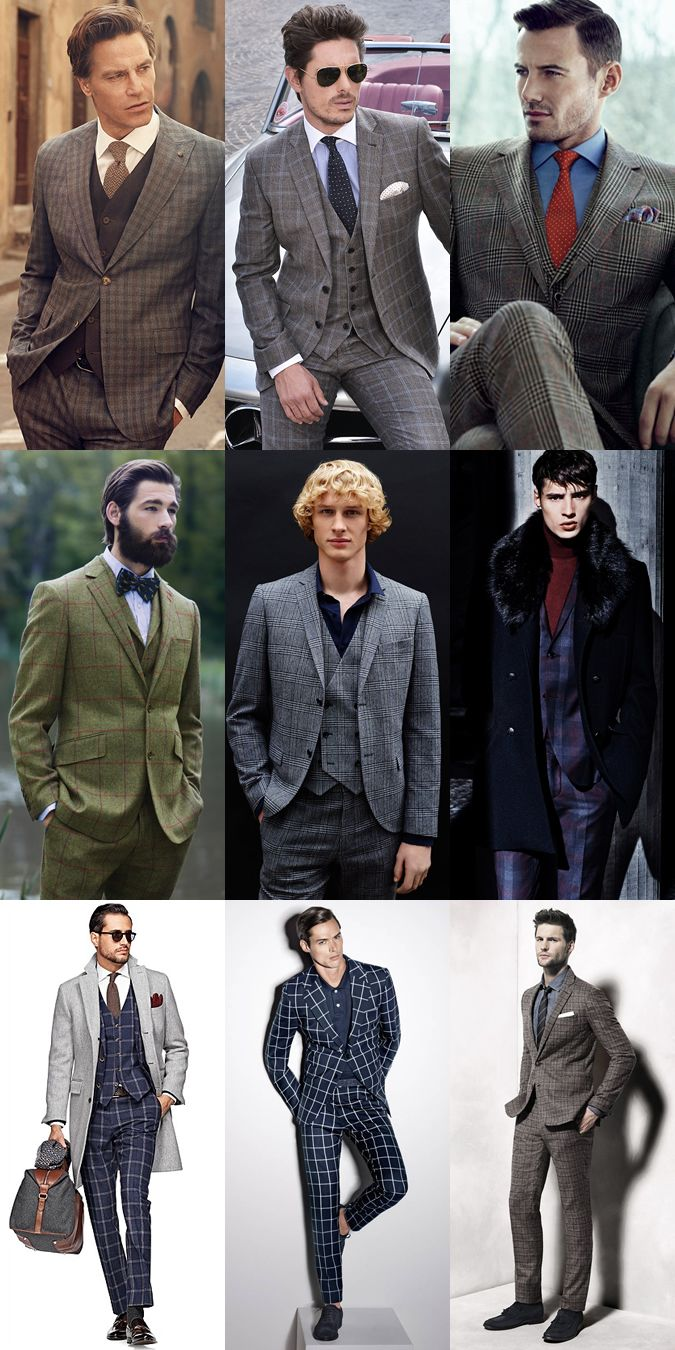 Men's 201314 Fashion Trend: Checked Tailoring Suiting