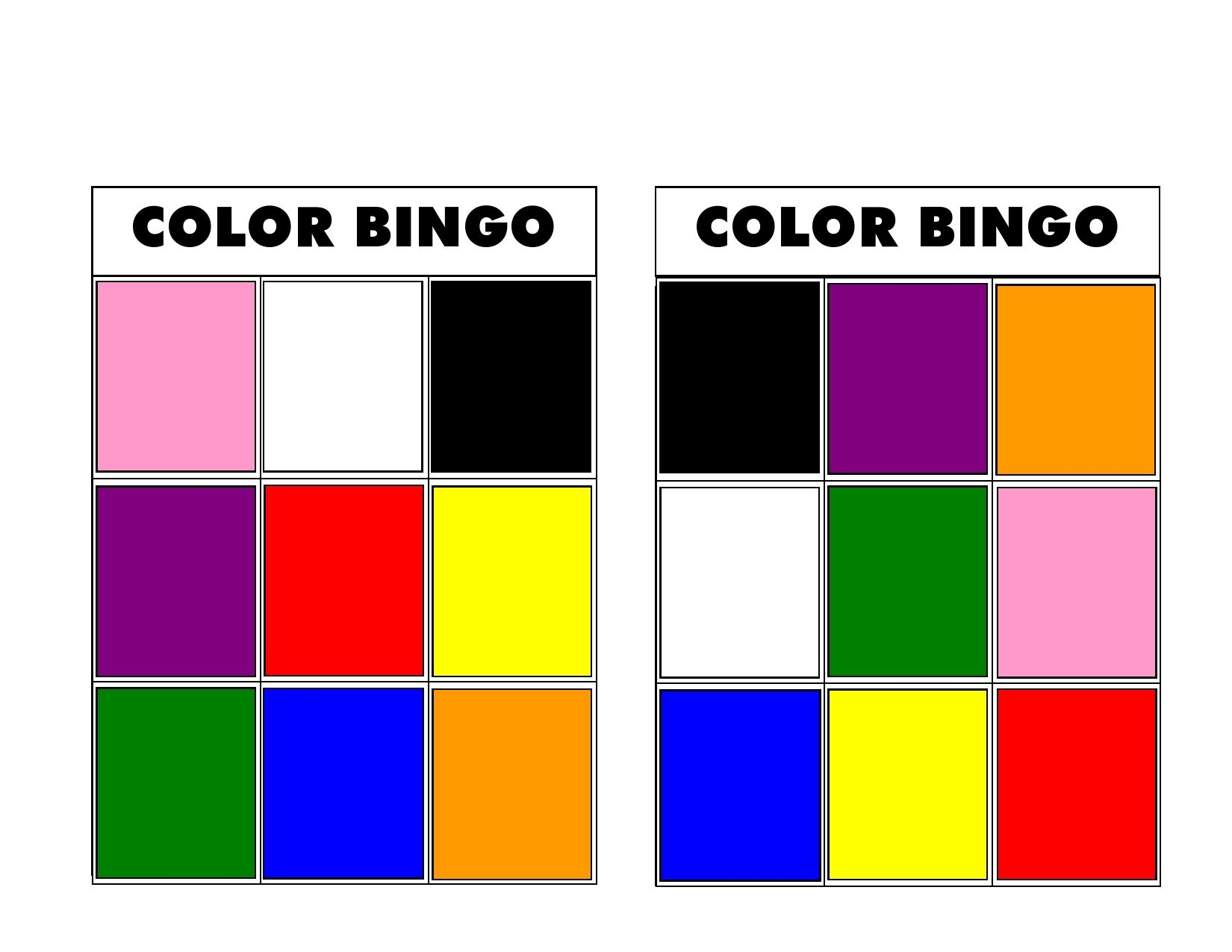 Color Bingo Is A Fun Game For Preschoolers To Practice