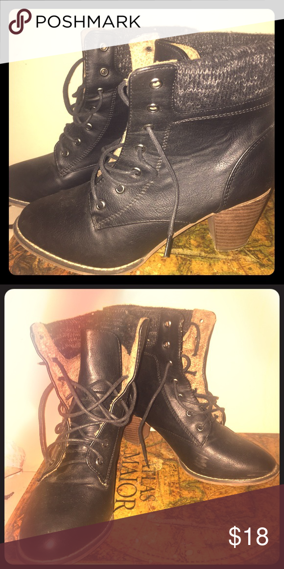 Heeled Lace-up Boots Used a few times but still in good condition! Shoes Ankle Boots & Booties