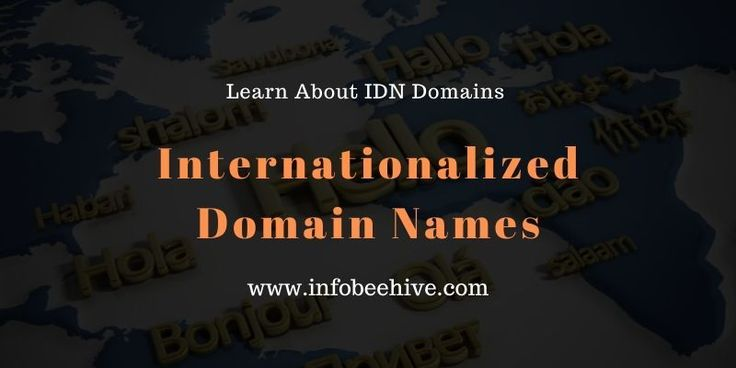 Internationalized Domain Names IDN Domains In Your