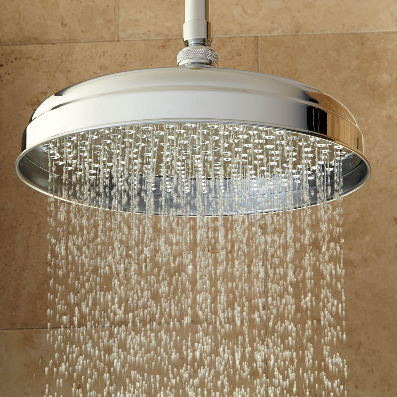 Devereaux Ceiling Mount Shower Head With Square Arm Bathroom Rainfall Shower Rainfall Shower Head Shower Heads