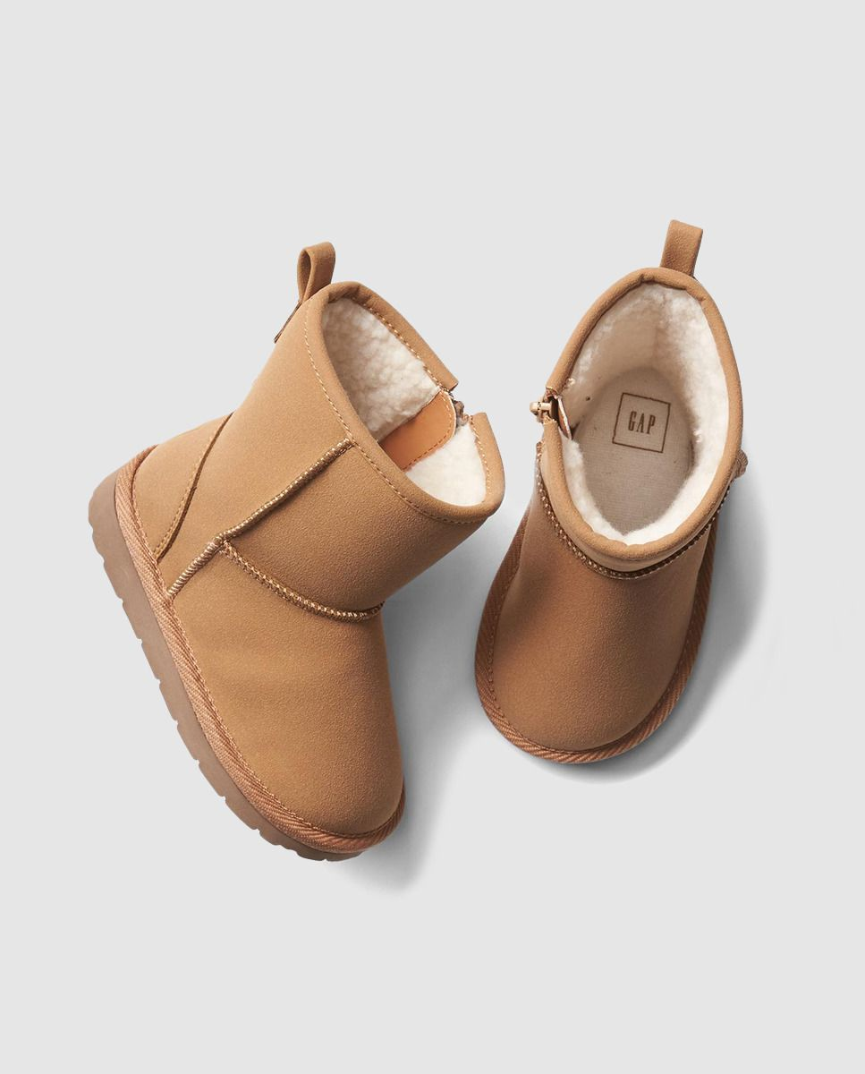 Botas de bebé niña GAP marrones con cierre cremallera  a573349928945