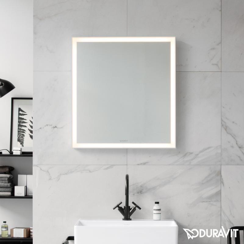 duravit l cube spiegel mit led beleuchtung designer  badezimmerspiegel moderne technik zeitloses design #1