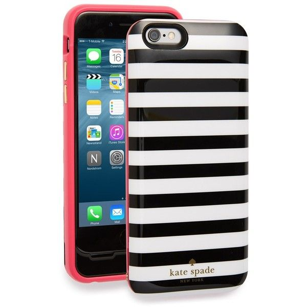 hot sale online 5e142 dad3c kate spade new york iPhone 6 & 6s charging case ($100) ❤ liked on ...
