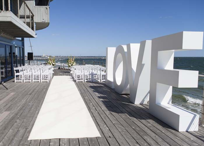 Outdoor Wedding Ceremony At Port Melbourne Yacht Club