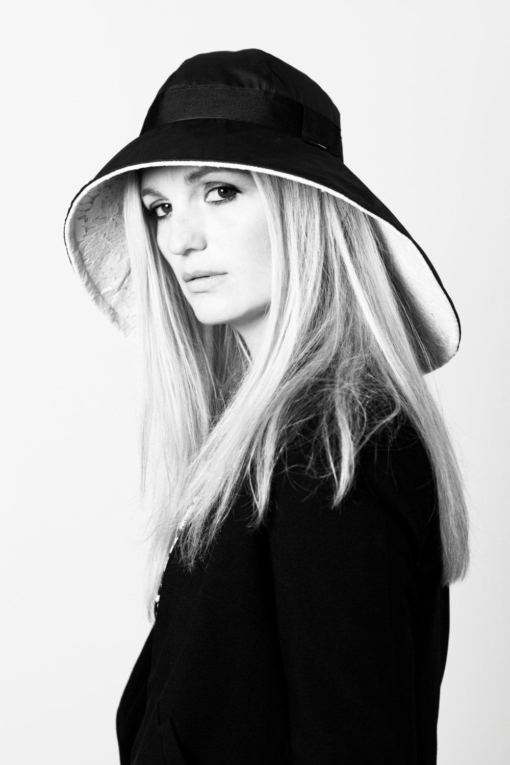 Waxed Cotton rain Hat, with black UK Waxed cotton outer, wide ribbon detail and soft white cotton lace inner. by StottandScott on Etsy https://www.etsy.com/listing/195066645/waxed-cotton-rain-hat-with-black-uk