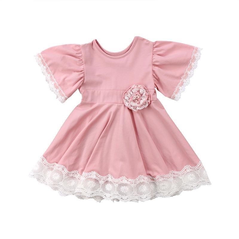 ba242ba78298 Pink Lace Party Dress