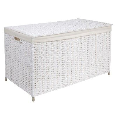 Malle Osier Panier A Linge Etendoir A Linge Dressing Buanderie Entretien Rangement Gifi Outdoor Furniture Outdoor Decor Outdoor Ottoman