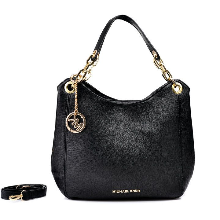 Michael Kors Outlet Shop Michael Kors Bedford Large Black Shoulder Bags - Michael  Kors Bedford Large Black Shoulder Bags Black leather Silver hardware ...
